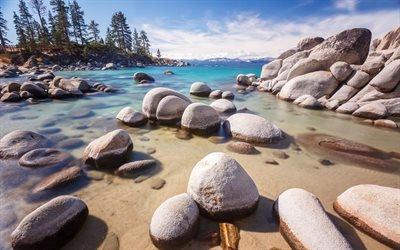 Камни, Лес, Горы, озеро Тахо, Невада