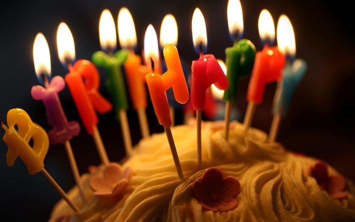 день народження, день рождения, Happy Birthday, свечи, тортик, торт, сладости, угощение