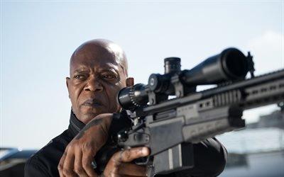 Телохранитель киллера, The Hitmans Bodyguard, 2017, боевик, комедия, Сэмюэл Лерой Джексон, Samuel Leroy Jackson, американский актер кино и телевидения