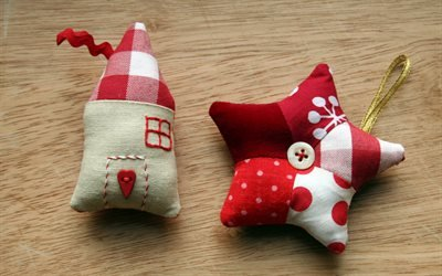 Дом, Звезда, Рождество, Украшения