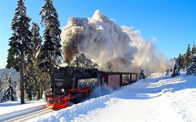 паровоз, поезд