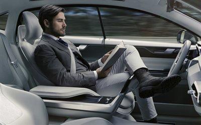 Вольво, концепт беспилотного автомобиля, Volvo, Ericsson
