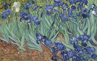 Винсент ван Гог, Vincent van Gogh, нидерландский художник-постимпрессионист, Irises, Ирисы, 1889, холст, масло