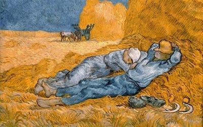 Винсент ван Гог, Vincent van Gogh, нидерландский художник-постимпрессионист, Сиеста, 1890, холст, масло