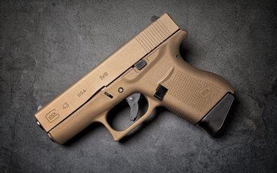 Glock 43, Глок, самозарядный компактный пистолет, Австрия