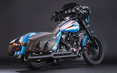 Харли-Дэвидсон, мотоцикл, тюнинг по мотивам героев комиксов Marvel, 2016, Harley-Davidson, Capitan America