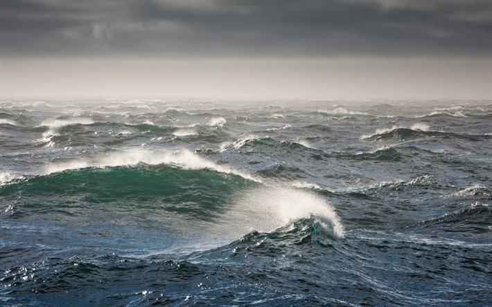 буря, шторм, океан зимой, большие волны, океан взимку, великі хвилі
