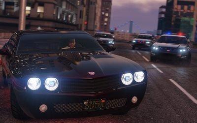 Франклин, 4k, ГТА 5, Grand theft auto 5
