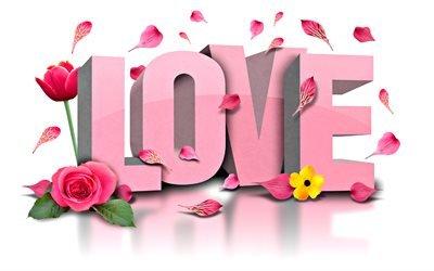 любовь, цветы, слово любовь, love, любов, квіти, слово любов