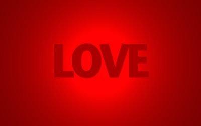 красный фон, love, любовь, слово, кохання