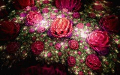цветок, фракталы, фрактал, квіти