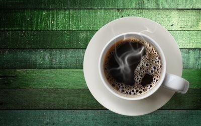 Зеленый, Доски, Чашка, Кофе, Аромат, Текстуры