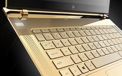 Хьюлетт-Паккард, ультратонкий ноутбук, ограниченная золотая серия, Hewlett-Packard, HP Spectre 13