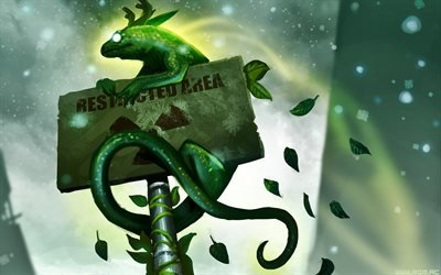 арт, существо, листья, романтика апокалипсиса, plate, being, green, табличка, зеленый, romance of the apocalypse, art, foliage