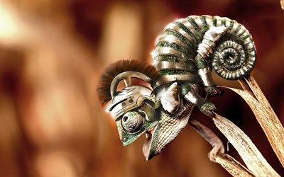 Хамелеон-гладиатор, Креатив, Рисунок