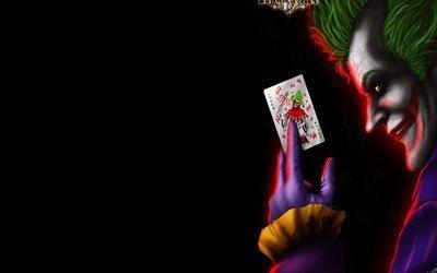 Джокер, арт, карты, 4k, Joker