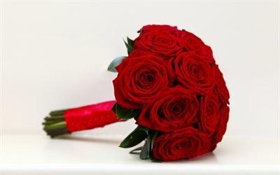 Весільний букет, розы, троянди, свадебный букет
