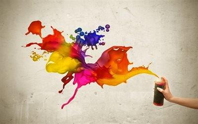 балончик краски, граффити, уличное искусство