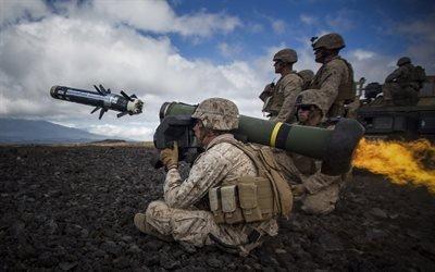 FGM-148 Javelin, солдаты, армия США, ракета, Javelin, противотанковый ракетный комплекс, ПТРК