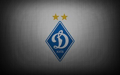 Динамо Киев, логотип, ромб, серый фон, Динамо Київ