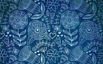 Бабочки, Цветы, Узоры, Текстуры