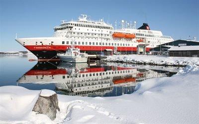 Финнмаркен, Finnmarken, круизный лайнер, Норвегия